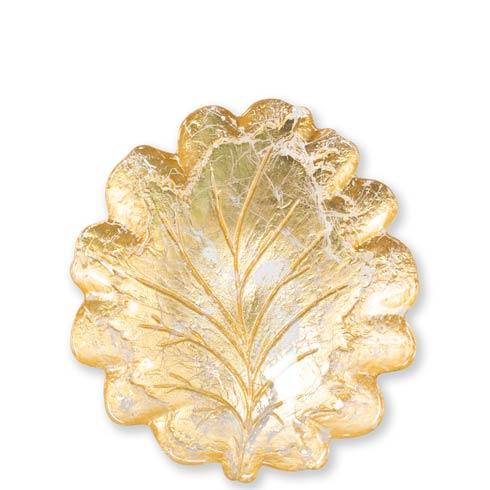 VIETRI  Moon Glass Leaf Salad Plate $27.00