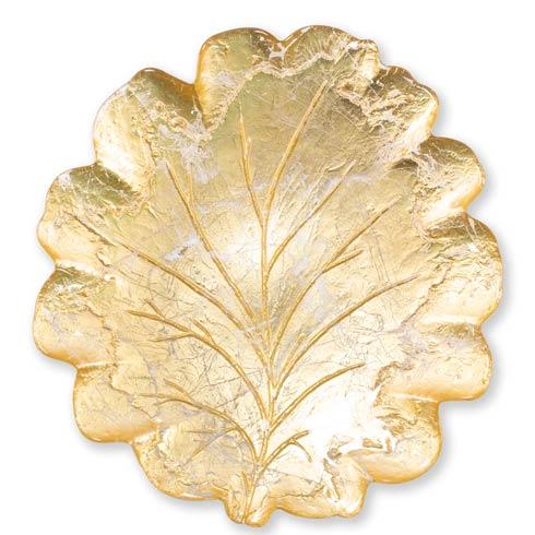 VIETRI  Moon Glass Leaf Platter $69.00