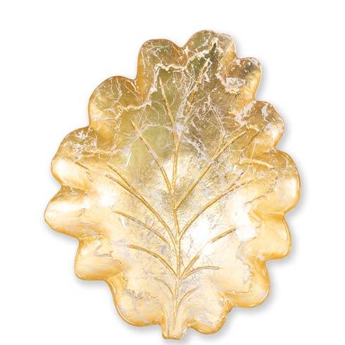 VIETRI  Moon Glass Leaf Medium Bowl $58.00