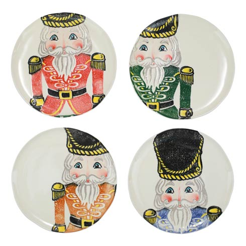 $216.00 Nutcrackers Assorted Dinner Plates - Set of 4