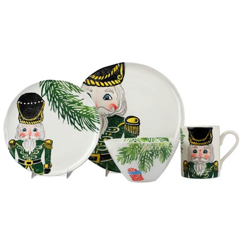 $201.00 Green Four-Piece Place Setting