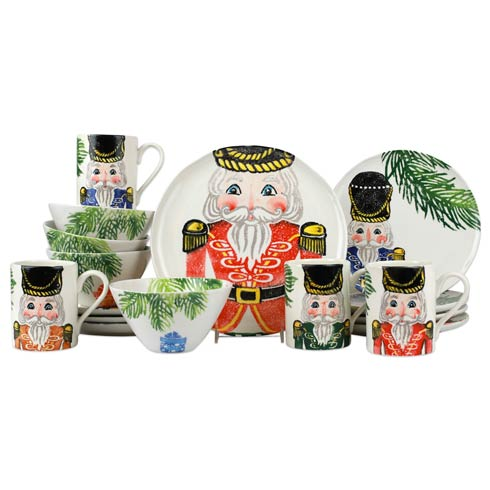 $744.00 Nutcrackers Assorted Sixteen-Piece Place Setting