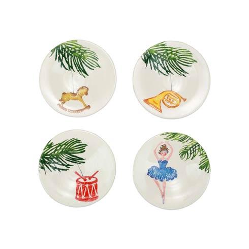 VIETRI   Nutcrackers Assorted Canape Plates - Set of 4 $120.00