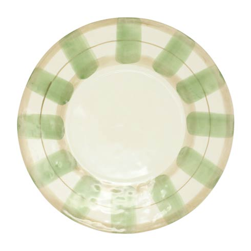 $72.00 Olive Striped Service Plate/Charger