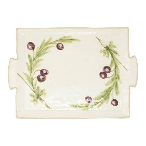 Vietri  Olives Handled Rectangular Platter $139.00