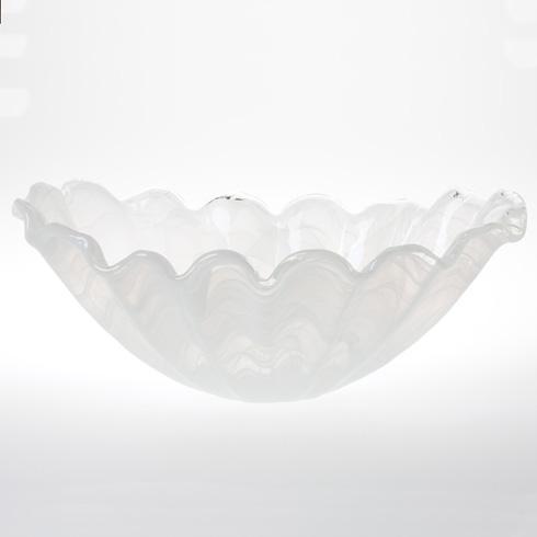 VIETRI  Onda Glass Centerpiece $99.00
