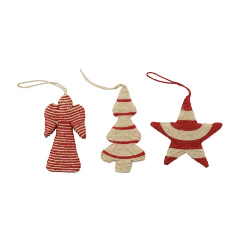 Angel, Star, and Tree Ornaments - Set of 3