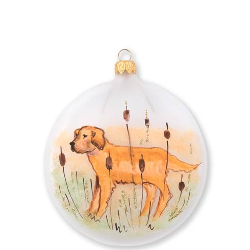 $46.00 Wildlife Hunting Dog Disc Ornament