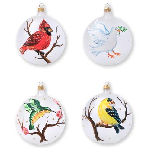 $184.00 Birds Assorted Ornaments - Set of 4