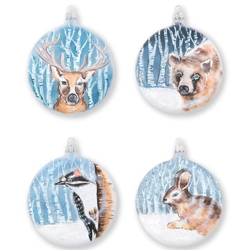 $184.00 Into the Woods Assorted Ornaments - Set of 4