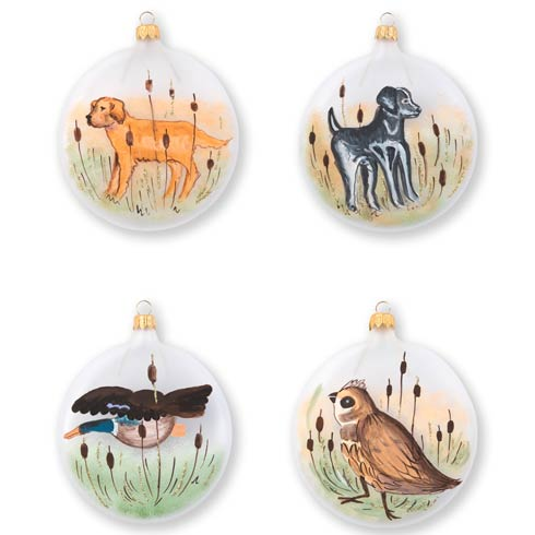 $184.00 Wildlife Assorted Ornaments - Set of 4