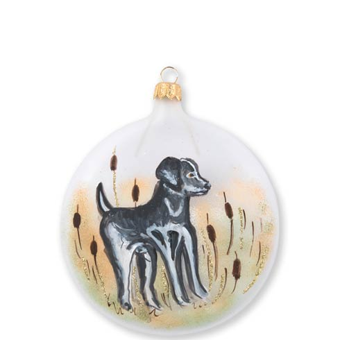 $46.00 Wildlife Black Hunting Dog Disc Ornament