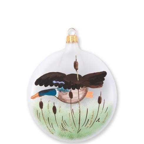 VIETRI  Ornaments Wildlife Mallard Disc Ornament $46.00