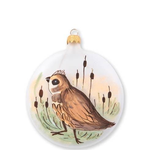 VIETRI  Ornaments Wildlife Quail Disc Ornament $46.00