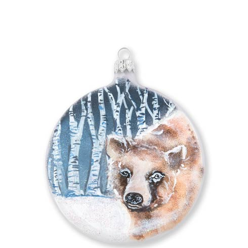 $46.00 Into the Woods Bear Disc Ornament