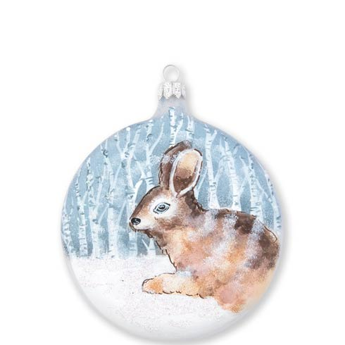 $46.00 Into the Woods Hare Disc Ornament