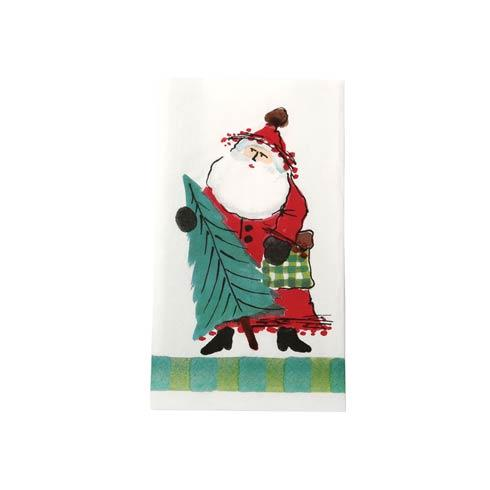 Vietri  Old St. Nick Guest Towel - Green $12.00