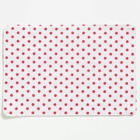 Vietri  Old St. Nick Red & White Striped/Dot Reversible Placemat $8.00