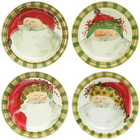 Vietri  Old St. Nick Dinner Plates (4 Assorted, Price Each) $58.00