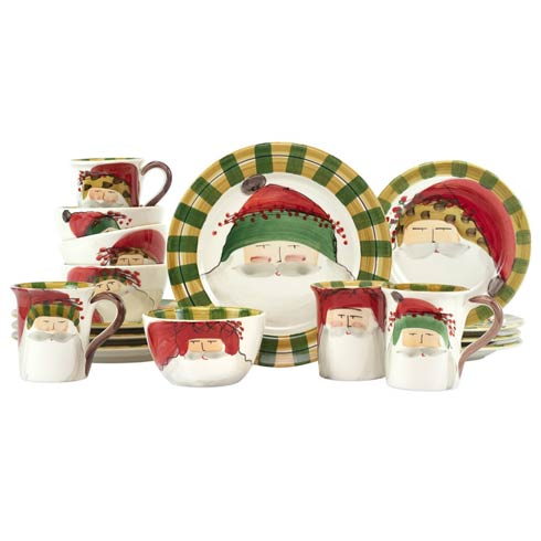 $732.00 Old St. Nick Assorted Sixteen-Piece Place Setting