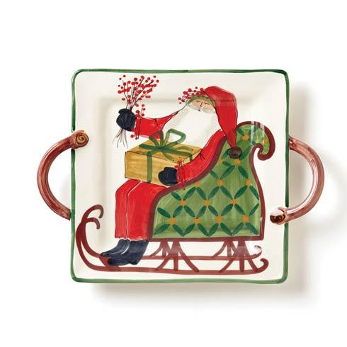 VIETRI  Old St. Nick Square Handled Platter $189.00