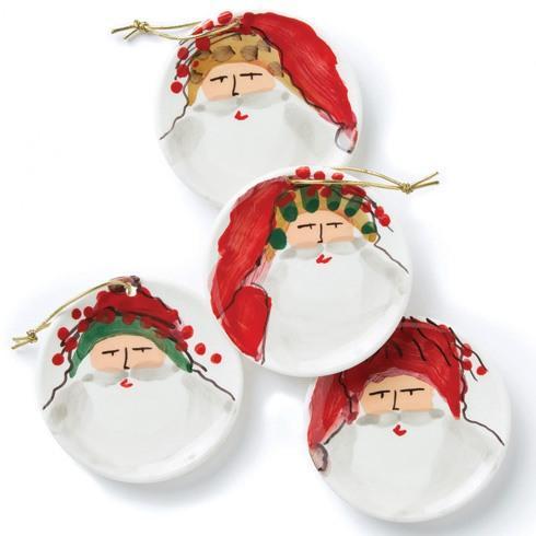 Vietri  Old St. Nick Assorted Ceramic Ornaments $98.00