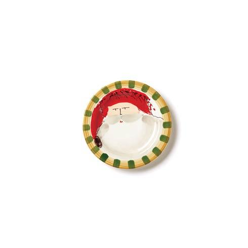 VIETRI  Old St. Nick Round Salad Plate - Red Hat $48.00
