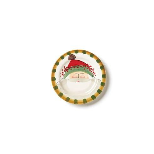 Vietri  Old St. Nick Round Salad Plate - Green Hat $48.00