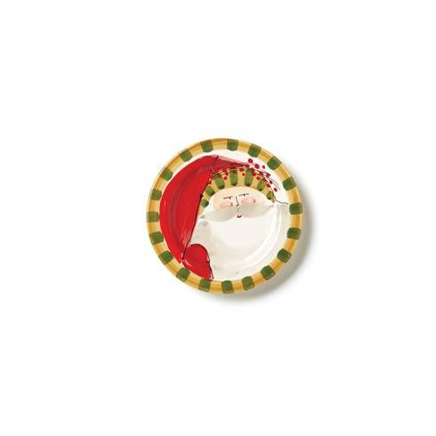 Vietri  Old St. Nick Round Salad Plate - Striped Hat $48.00