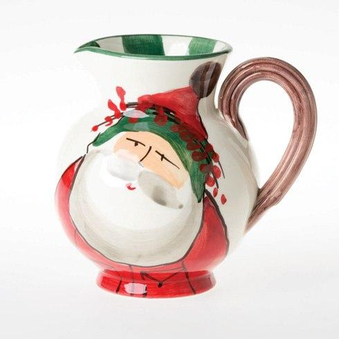 Vietri  Old St. Nick Glass Pitcher $90.00