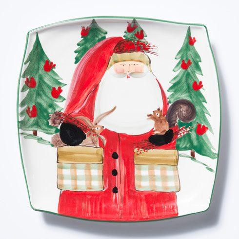 Vietri  Old St. Nick 2017 Limited Edition Square Platter $128.00
