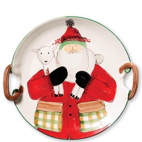 Handled Round Platter w/ Lamb image