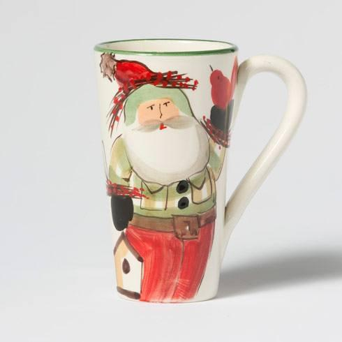 VIETRI  Old St. Nick Latte Mug w/ Birds $54.00