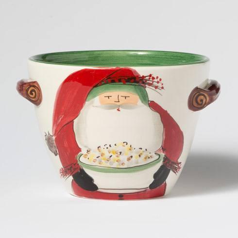 Handled Deep Serving Bowl w/ Popcorn image