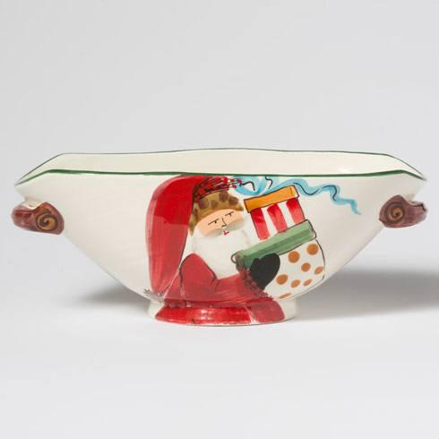 $150.00 Handled Oval Bowl w/ Presents