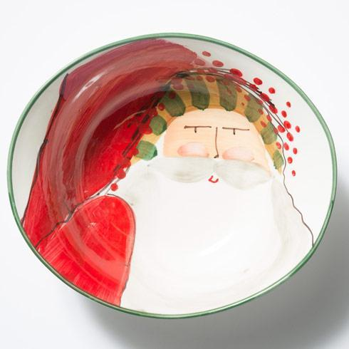 Vietri  Old St. Nick Deep Oval Bowl with Face $135.00