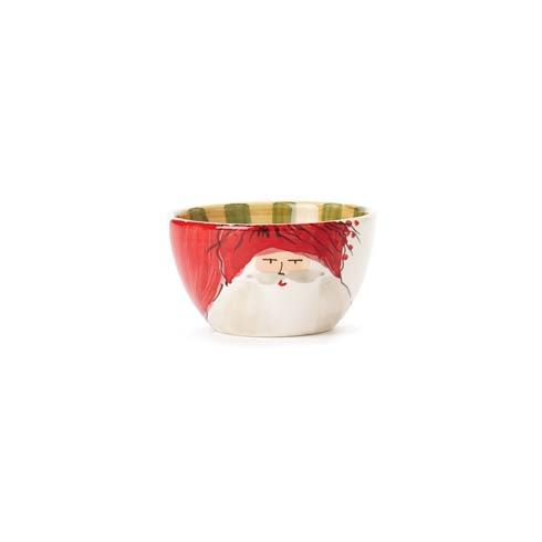 Vietri  Old St. Nick Cereal Bowl - Red Hat $48.00