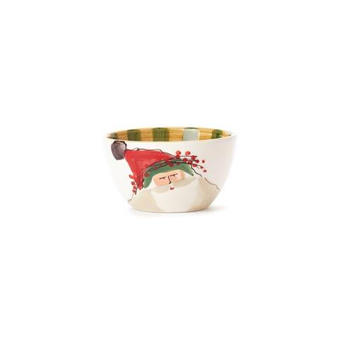 Vietri  Old St. Nick Cereal Bowl - Green Hat $48.00