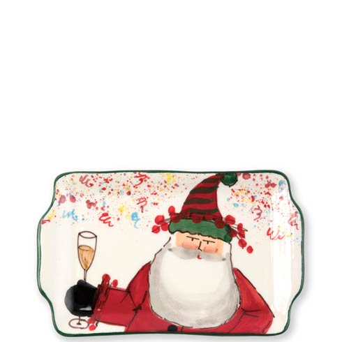 Vietri  Old St. Nick 2018 Limited Edition Rectangular Plate $56.00