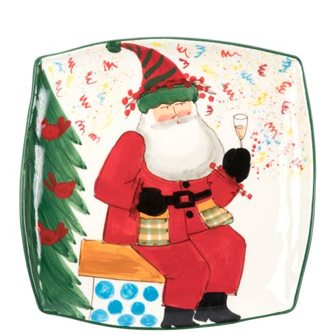 Vietri  Old St. Nick 2018 Limited Edition Square Platter $128.00