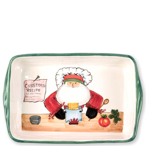 Vietri  Old St. Nick Rectangular Baker with Chef $138.00
