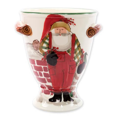 $174.00 Footed Urn with Chimney & Stockings