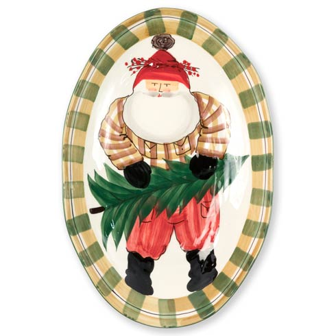 VIETRI  Old St. Nick Oval Serving Bowl $177.00