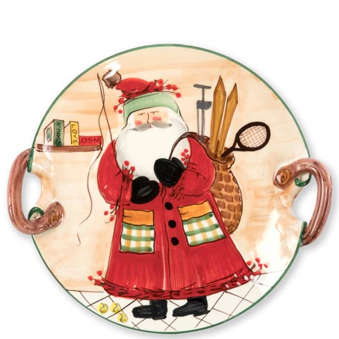 VIETRI  Old St. Nick Handled Round Platter - Assorted Sports $201.00