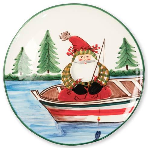 VIETRI  Old St. Nick Round Platter - Fishing $148.00