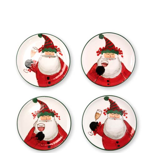 Vietri  Old St. Nick Cocktail Plates - Set of 4 $128.00