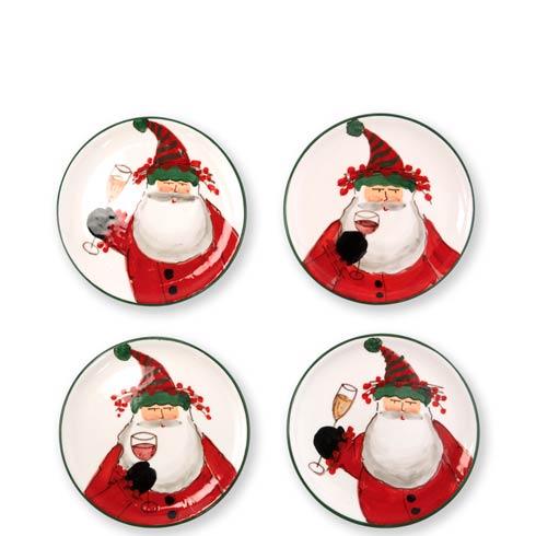 VIETRI  Old St. Nick Cocktail Plates - Set of 4 $129.00