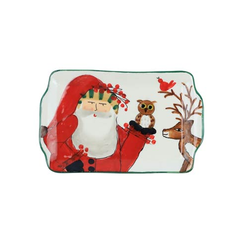 VIETRI  Old St. Nick 2019 Limited Edition Rectangular Plate $64.00