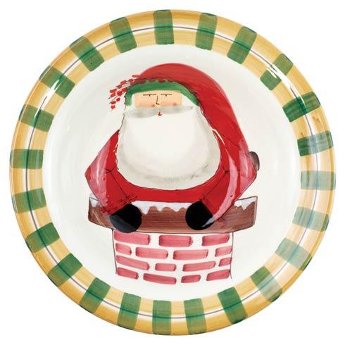 $203.00 Rimmed Large Bowl - Santa in Chimney