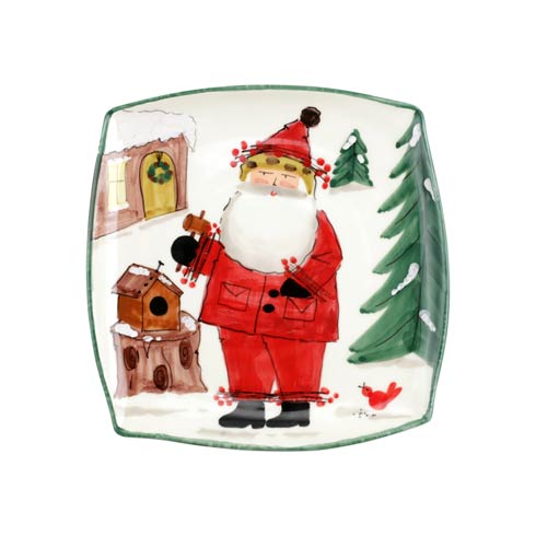 VIETRI  Old St. Nick 2020 Limited Edition Square Platter $142.00